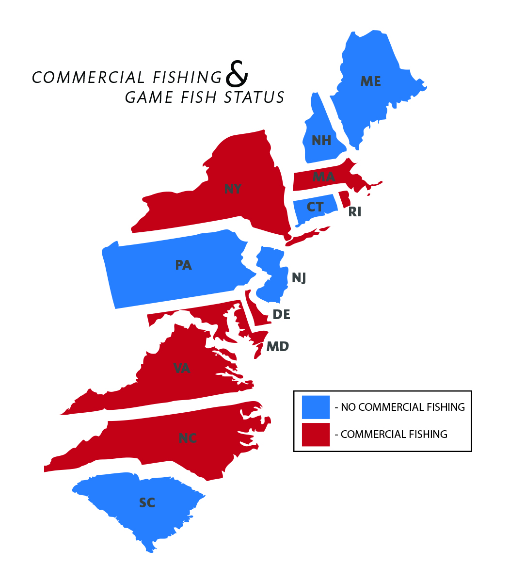 Progress map state info stripers forever for Mass commercial fishing license